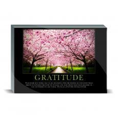 Motivational Posters - Gratitude Cherry Blossoms Desktop Print