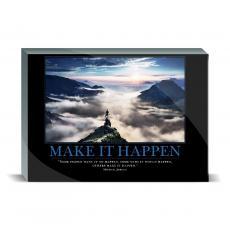 Motivational Posters - Make It Happen Mountain Desktop Print