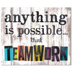 Closeout and Sale Center - Think Teamwork Inspirational Art