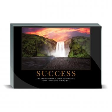 Success Waterfall Desktop Print