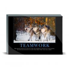 Motivational Posters - Teamwork Wolves Desktop Print