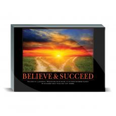 Desktop Prints - Believe & Succeed Path Desktop Print