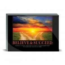 Motivational Posters - Believe & Succeed Path Desktop Print