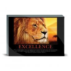 Motivational Posters - Excellence Lion Desktop Print