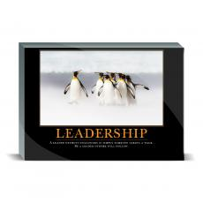 Motivational Posters - Leadership Penguins Desktop Print