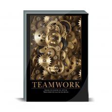 Motivational Posters - Teamwork Gears Desktop Print