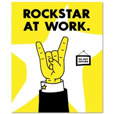 Contemporary Inspirational Art - Rockstar At Work Inspirational Art