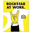 Rockstar At Work Inspirational Art