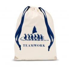 New Products - Teamwork Penguins Drawstring Holiday Gift Bag