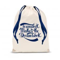 New Products - Teamwork Dream Work Drawstring Gift Bag