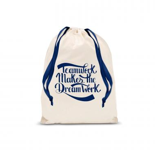 Teamwork Dream Work Drawstring Gift Bag