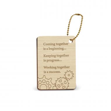 Working Together Wooden Gift Tag