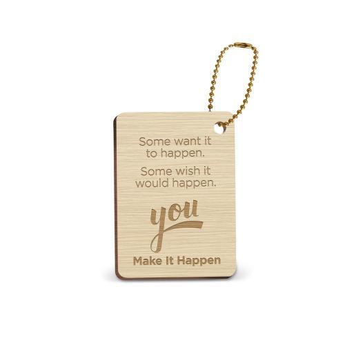 Make it Happen Wooden Gift Tag
