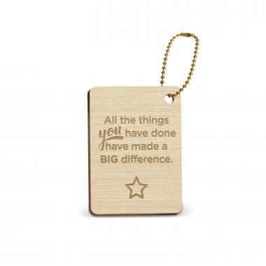 Big Difference Wooden Gift Tag