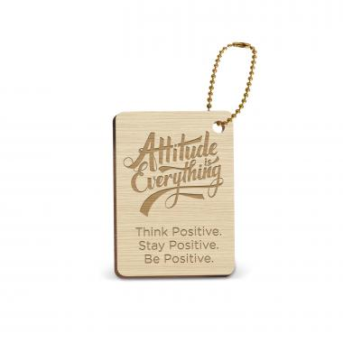 Attitude is Everything Wooden Gift Tag
