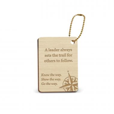 Leader Compass Wooden Gift Tag