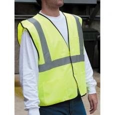 Vests General - Safety works Hi-viz lime green class 2 safety vest