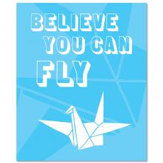 All Motivational Posters - Believe You Can Fly Inspirational Art