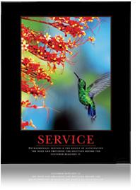 Service Hummingbird Motivational Poster